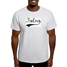 Vintage Tulsa Ash Grey T-Shirt