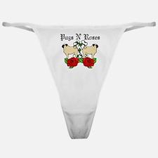 Pugs N Roses Classic Thong