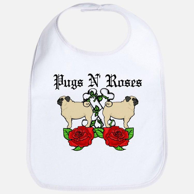 Pugs N Roses Bib
