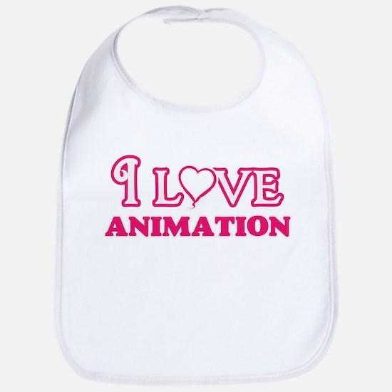 I Love Animation Baby Bib