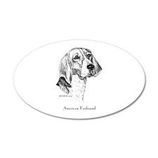 American Foxhound 22x14 Oval Wall Peel