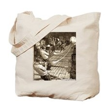 Blowing Glass Tubes Tote Bag