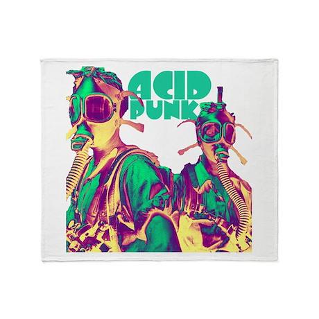 Acid Punk Throw Blanket