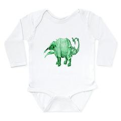 here be dragons Long Sleeve Infant Bodysuit