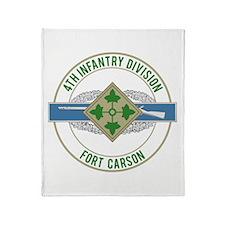 4th ID with CIB Throw Blanket