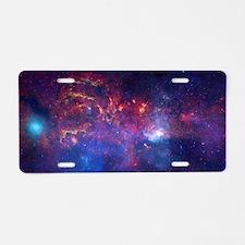 Milky Way Core Aluminum License Plate