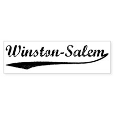 Vintage Winston-Salem Bumper Bumper Sticker