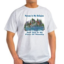 Nature Is My Religion Ash Grey T-Shirt