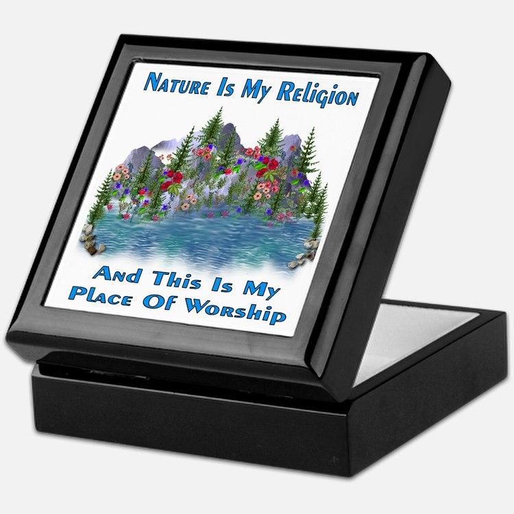 Nature Is My Religion Keepsake Box
