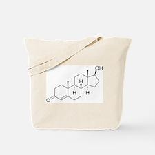 Testosterone Molecule Tote Bag