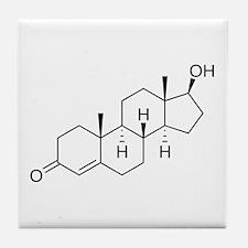 Testosterone Molecule Tile Coaster