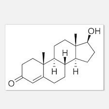 Testosterone Molecule Postcards (Package of 8)