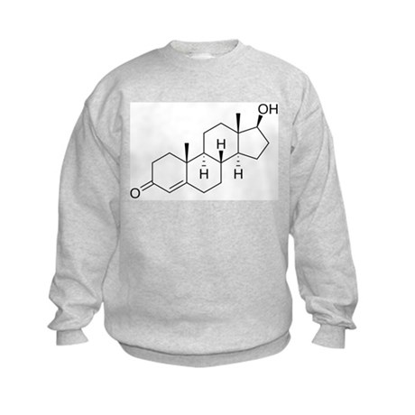 Testosterone Molecule Kids Sweatshirt