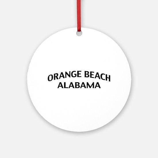 Orange Beach Alabama Ornament (Round)