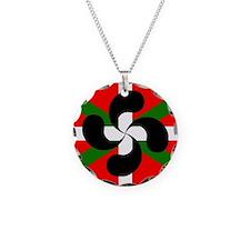 Basque Flag Lauburru Necklace
