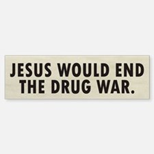 Jesus Drugs Bumper Bumper Sticker