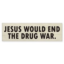 Jesus Drugs Bumper Sticker