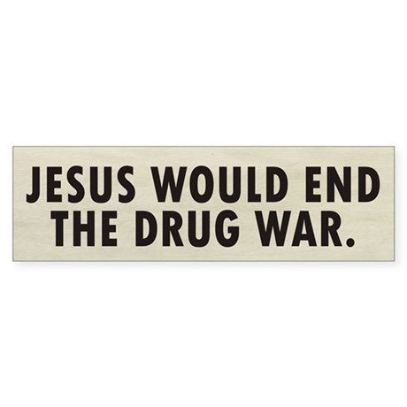 Jesus Drugs Sticker (Bumper)