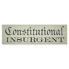 Constitutional Insurgent Car Sticker
