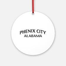 Phenix City Alabama Ornament (Round)