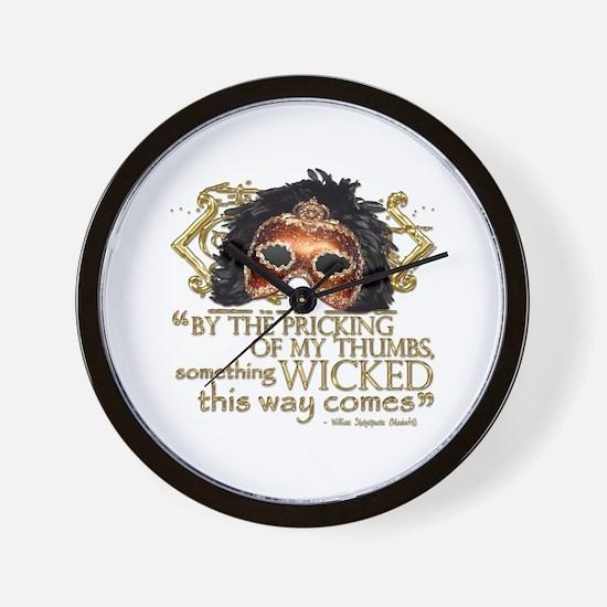Macbeth Quote Wall Clock