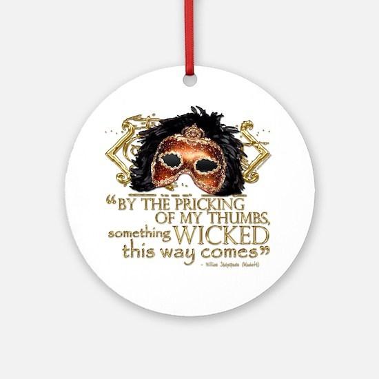 Macbeth Quote Ornament (Round)