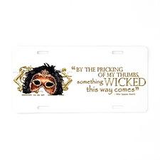 Macbeth Quote Aluminum License Plate