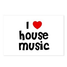 I * House Music Postcards (Package of 8)
