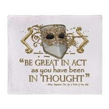 Shakespeare Great In Thought Quote Throw Blanket