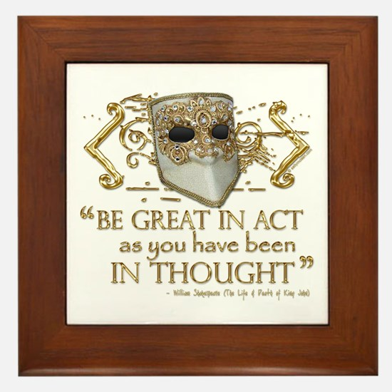 Shakespeare Great In Thought Quote Framed Tile