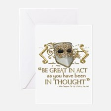 Shakespeare Great In Thought Quote Greeting Card