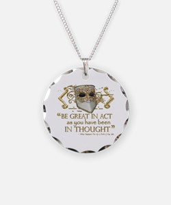 Shakespeare Great In Thought Quote Necklace
