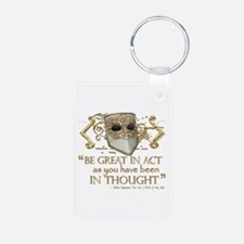 Shakespeare Great In Thought Quote Keychains