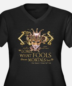 Shakespeare Fools Quote Women's Plus Size V-Neck D