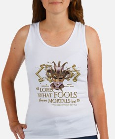 Shakespeare Fools Quote Women's Tank Top