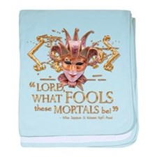 Shakespeare Fools Quote baby blanket