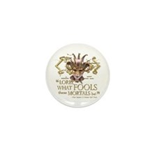 Shakespeare Fools Quote Mini Button (10 pack)