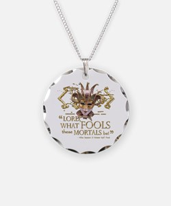 Shakespeare Fools Quote Necklace