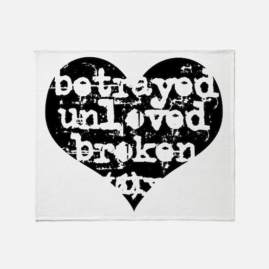 Betrayed Throw Blanket