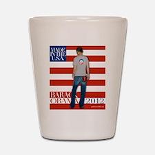 Obama for president 2012 Shot Glass