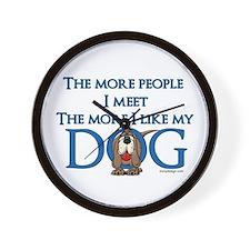 I Like My Dog Wall Clock