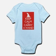 Keep Calm and Carry a Wand Infant Bodysuit