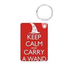 Keep Calm and Carry a Wand Keychains