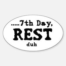 7h day Sticker (Oval)