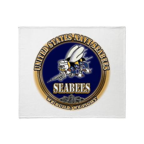 USN Navy Seabees Throw Blanket