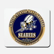 USN Navy Seabees Mousepad