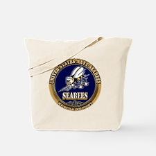 USN Navy Seabees Tote Bag