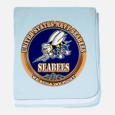 USN Navy Seabees baby blanket