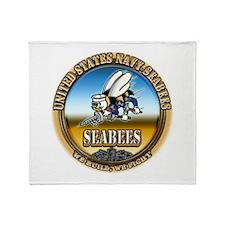 US Navy Seabees Throw Blanket