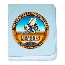 US Navy Seabees baby blanket